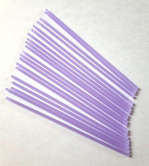 Igiełki szklane fioletowe
