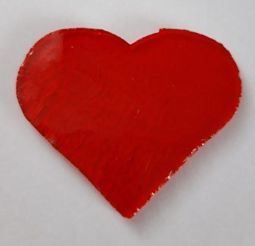 Serce srednie przezroczyste