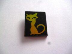 szkło ozdobne, COE 90, kot żółty