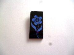 szkło ozdobne, COE 90, kwiatek niebieski