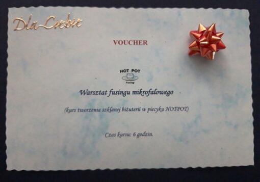 Kurs fusingu mikrofalowego - bon prezentowy